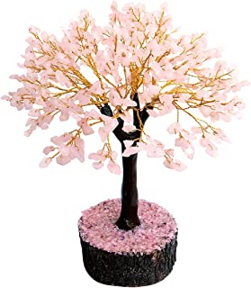 Divine Magic Handmade Rose Quartz Gemstone Crystal Tree Pink for Love Home décor Bedroom Gifts for Couples Brings Uncondit...