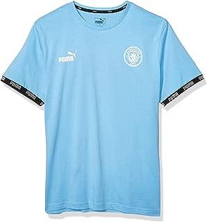 MCFC Men's Manchester City Culture Tee , Large, Team Light Blue
