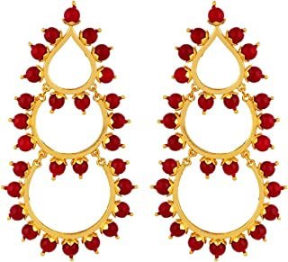 Voylla Drop Earrings for Women (Golden)(8907617856049)