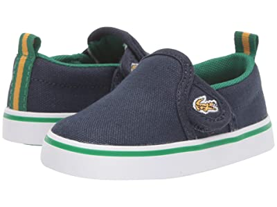 Lacoste Kids Gazon 319 1 (Toddler) (Navy/Green) Kid