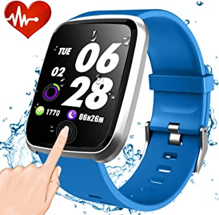 GBD Fitness Tracker HR,Smart Watch IP67 Waterproof Activity Tracker with Heart Rate Monitor,Sleep Monitors, Calorie, Pedometer, Blood Pressure Sport Smartwatch for Men Women Kids Teens Birthday Gifts