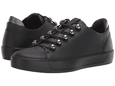 ECCO Soft 8 Trend Sneaker (Black/Black/Dark Shadow Metallic) Women