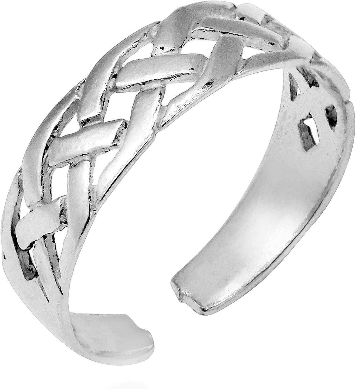 AeraVida Interwoven Celtic Knot .925 Toe Silver Soldering Ring Denver Mall Sterling or