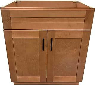 New Maple Shaker Single Bathroom Vanity Base Cabinet 24