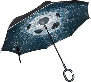 ALAZA Inverted Umbrella, Large Double Layer Outdoor Rain Sun Car Reversible Umbrella