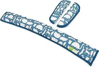 Priebes Käthe Gurtpolster-Set für Buggy Kinderwagen | Universale Gurtpolster und Bügelpolster für alle handelsüblichen Kinderwagen Buggy und Sportwagen | 100% Baumwolle
