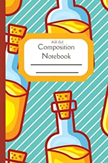 Composition Notebook Wide Rule: Cooking Recipe Olive Oil, Standard wide ruled composition notebook journal for all writing...
