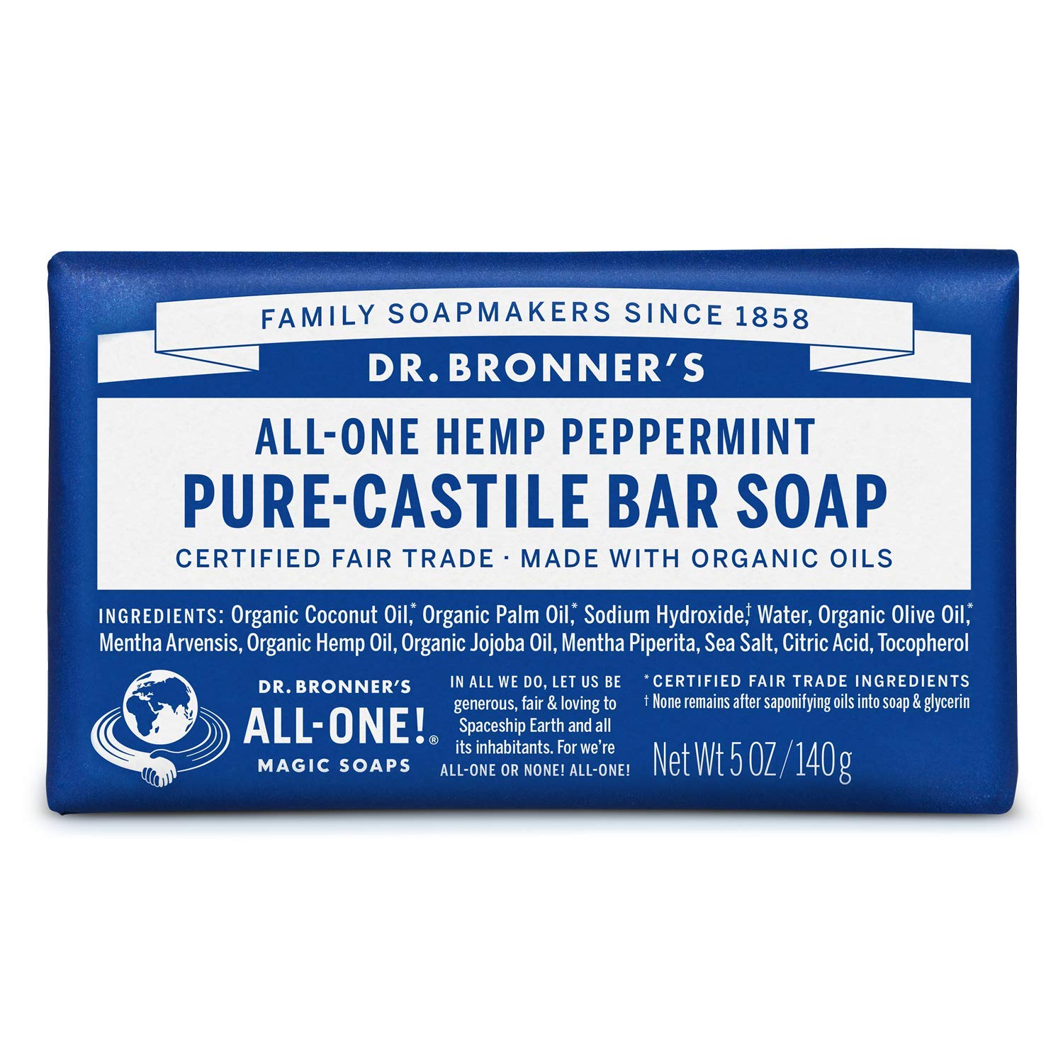 Ranking TOP19 Dr. Bronner's - Pure-Castile Bar 5 Peppermint Soap ounce Ma High quality new