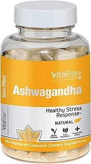 Organic Ashwagandha Capsules 2000mg | Ashwagandha Root Powder | Stress & Anxiety Relief, Adrenal Support with Valerian & KSM 66 Ashwagandha | Anti Anxiety Supplements