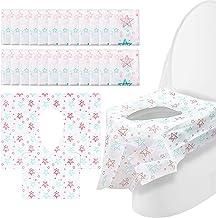 Cubierta del asiento para ir al baño - Cubiertas desechables para el asiento del inodoro, paquetes extra grandes de tamaño 24 sin adhesivo antideslizante