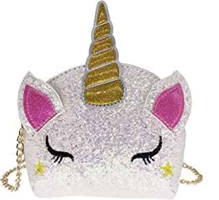 Girls Unicorn Sequin Glitter Crossbody Shoulder Purse Handbag Women Satchel Tote Shell Bag