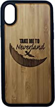 Neverland Phone Case Cover for iPhone XR by iMakeTheCase   Eco-Friendly Bamboo Wood Cover + TPU Wrapped Edges   Peter Pan Moon Fairytale Fantasy Pixie Dust.