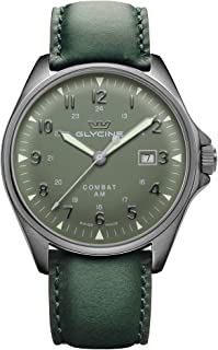 Glycine - Combat 6 Vintage Reloj para Hombre Analógico de Automático con Brazalete de Piel de Vaca GL0298