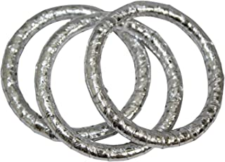 Ted Rossi Womens Python Bangle Set Silver OS