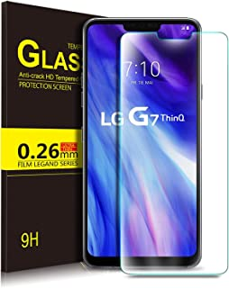KuGi Premium Tempered Glass Screen Protector for LG G7 ThinQ / G7, Clear