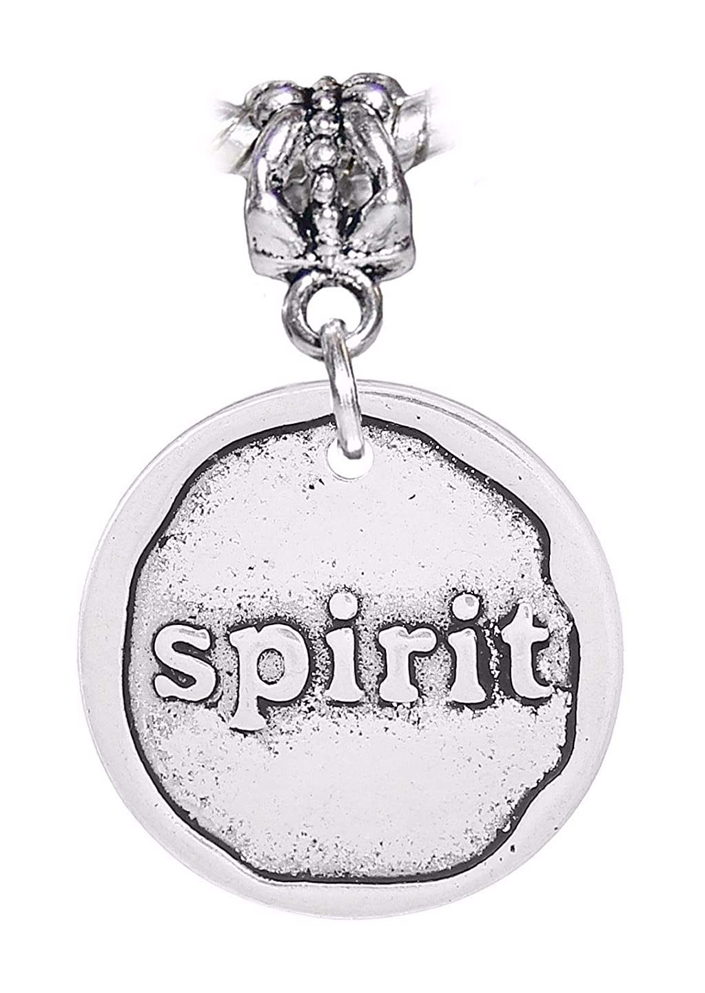 Spirit Inspirational Word Wax Stamp Dangle Charm for European Bead Bracelets Crafting Key Chain Bracelet Necklace Jewelry Accessories Pendants