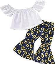 3Pcs Toddler Baby Girl Polka Dot Outfits Set, Kids Off Shoulder Ruffled Tassel Crop Top+High Waist Harem Pants+Headband