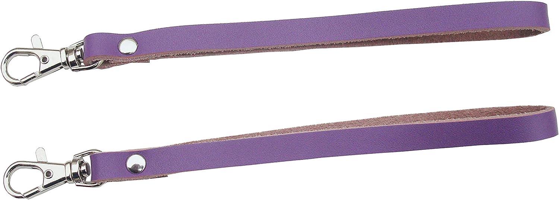 violet paquet de 2 dragonne en cuir v/éritable pour t/él/éphones portables//appareils photo//cl/és USB//porte-cl/és//porte-identifiants Dragonnes