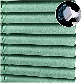 CHENHZ Aluminium Venetian Blinds, Visibility, Light and Glare Protection,Mounting Kit Included, No Drilling, Customizable Size (Color : Green, Size : 60x120cm)