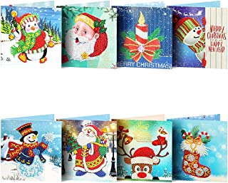 Easyeeasy Diamond Cards Diy Cross Stitch Cartoon The Christmas Card Gift Diamond Painting Wenskaarten, 8st