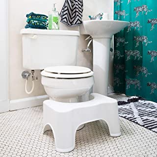 After Glow Bathroom Stool for Adults. This Home Accessories Toilet Poop Stool is a Posture Training Adjustable Plastic Leg Rest.