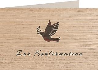 myZirbe Träkort – för konfirmation – 100 % handgjorda i Österrike – vykort, presentkort, gratulationskort, kort inbjudnin...