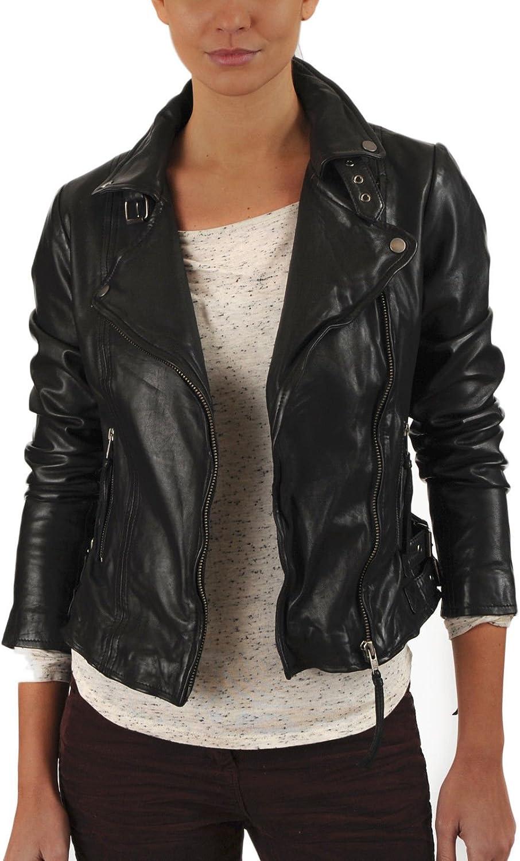 100% New Genuine Leather Lambskin Women Biker Motorcycle Jacket Ladies LTN265