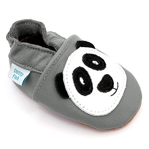 bc1df2db2f Dotty Fish Soft Leather Baby Shoes with Non Slip Suede Soles. 0-6 Months