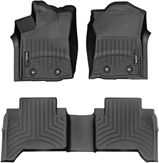 WeatherTech Custom Fit FloorLiner for Toyota Tacoma - 1st & 2nd Row (Black)