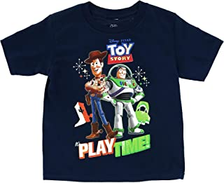 Disney Toddler`s Toy Story Buzz Woody Play Time Tee Shirt