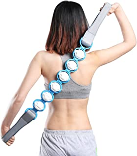 Body Massage Roller Rope - Portable Handheld Upper Lower Back Shoulder Neck Foot Trigger Point Node Rolling Balls Self Massager Equipment Tool - by Nawati (Blue)
