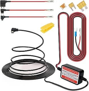 Gebildet® Dash CAM Hardwire Kit Mini USB 12V-24V a 5V, Protección de Bajo Voltaje ACN/ACS/ACU Agregar un Circuito Portafusibles Compatible GPS, Detector de Radar Todos los Demás Dispositivos