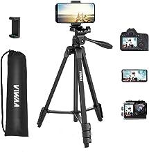 سه پایه دوربین 55 اینچی ، سه پایه آلومینیومی ViWAA سبک برای دوربین ، تلفن ، حداکثر ظرفیت 6.6 LB ، سه پایه مسافرتی با کیف حمل