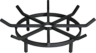 SteelFreak Heavy Duty Wagon Wheel Firewood Grate for Fire Pit - Made in The USA (20 Inch)