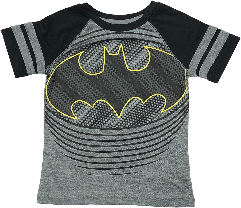 Jumping Beans Active Boys Short Sleeve Gray & Black Batman T-Shirt Silky Tee