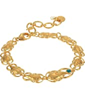 18K Gold Plated Scarb Bracelet with Turquoise