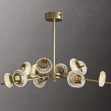 12 licht kroonluchter met glazen wiel lampenkap en moderne gouden donuts dimbare plafondlamp voor eetkamer woonkamer slaap...