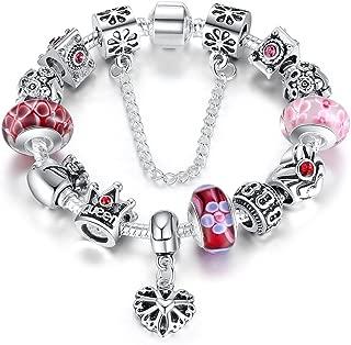 pulsera con perlas para mujer