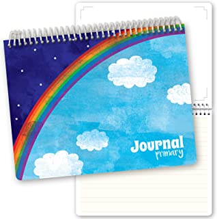 Primary Journal for Writing & Drawing for Kids. Kindergarten Journals include Reading Log Pages & Worksheet Pages for Geography, Days of Week, Seasons and More.