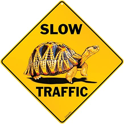 "CROSSWALKS Slow Traffic 12"" X 12"" Aluminum Sign"