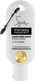 Monkey Movement Liquid Hand Chalk: No-Mess Formula - Liquid Grip for Rock Climbing, Weightlifting, Crossfit, Pole Fitness,...