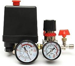 95-125PSI 20A 240V Air Compressor Pressure Switch Control Valve Manifold Regulator Gauges Air Regulator Valve Compressor Switch