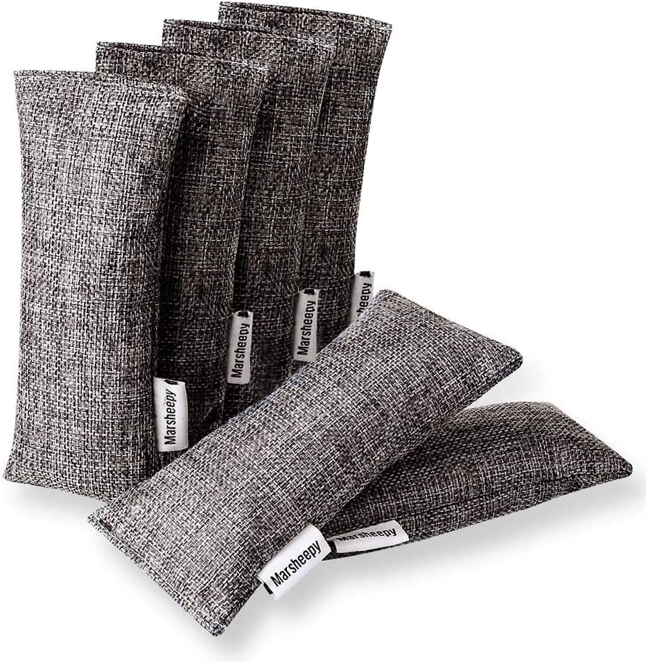 Marsheepy 6 Pack Natural Bamboo a Charcoal Oakland Mall Shoe Bags Inexpensive Deodorizer