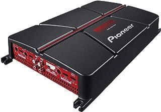 مضخم صوتي 4 قنوات من بايونير GM-A6704 قابل للتوصيل بشكل متسلسل مع خاصية تعزيز الصوت الجهير- اللون: اسود/احمر