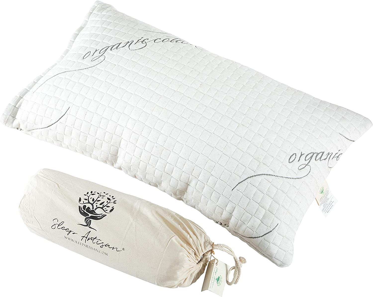 Outlet ☆ Free low-pricing Shipping Sleep Artisan Latex Pillow Queen Adjustable Size wit Pillows Bed
