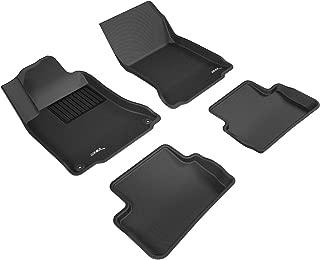 3D MAXpider Complete Set Custom Fit All-Weather Floor Mat for Select Mercedes-Benz GLA-Class Models - Kagu Rubber (Black)