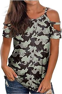 QINGXIA/_ZI Femme Tops /Ét/é ❤️,Femme T-Shirt Couleur Unie D/écontract/é avec Poche Tank Top Longue Section avec Grande Taille /À Capuche Vest Couleur Unie Coton Col Rond Haut Blouse