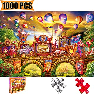 Cool Wall Decal Sticker Vinyl Jigsaw Puzzles 1000 Pieces Puzzles for Adults Artwork Art for Teen Adult Grown Up Puzzles Large Size Toy Educational Games Gift 1000 PCS Entertainment (Carnival Circus)