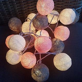 erholi 20 Cotton Ball String Fairy Night Lights Kid Children Bedroom LED String Light Favors
