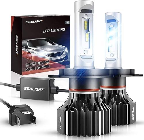 SEALIGHT H4/9003/HB2 LED Bulbs X1 Series Dual Xenon White 6000K 6000LM